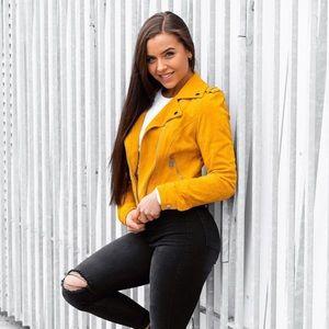 Jackets & Blazers - New! Suede Biker Jacket